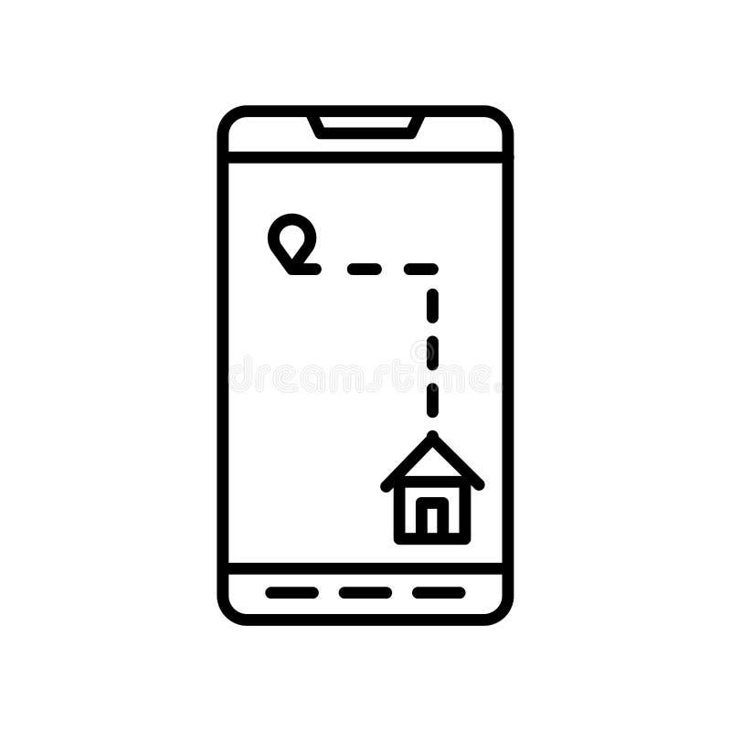 Вектор значка телефона изолированный на белой предпосылке, знаке телефона, тонкой линии элементах дизайна в стиле плана бесплатная иллюстрация