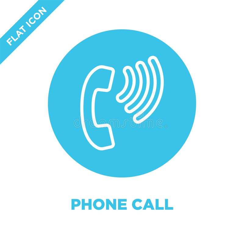 вектор значка телефонного звонка от собрания доступности Тонкая линия иллюстрация вектора значка плана телефонного звонка Линейны иллюстрация штока