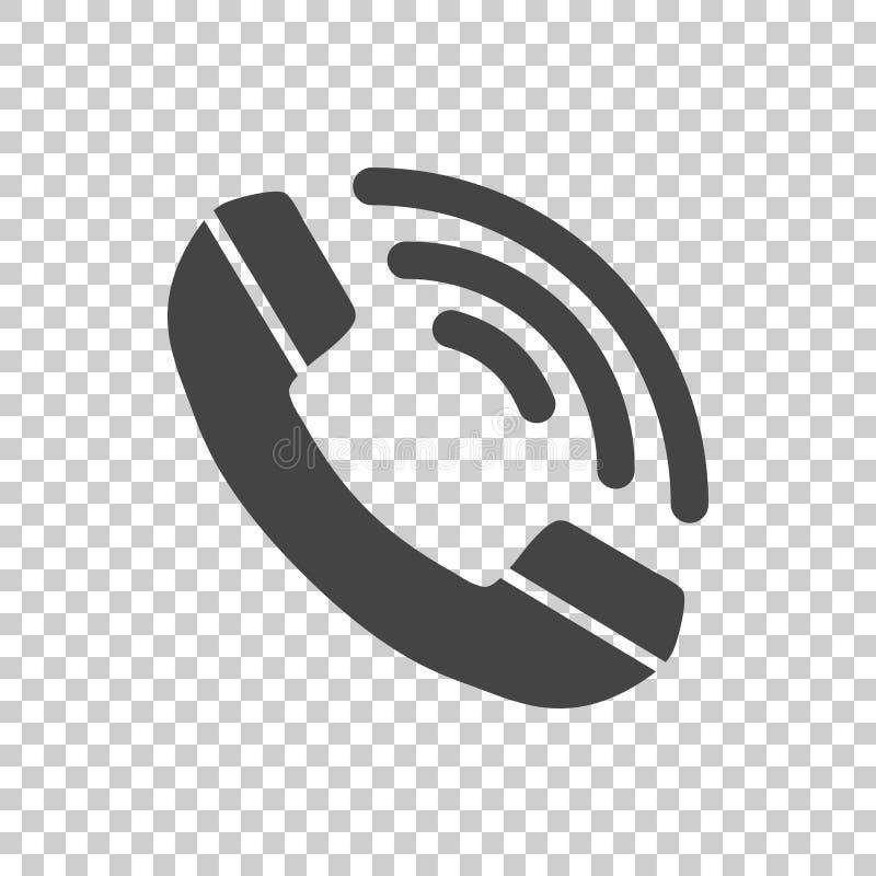 Вектор значка телефона плоский иллюстрация вектора