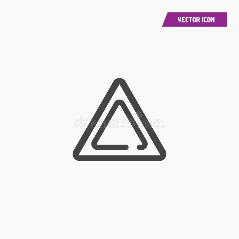 Вектор значка треугольника изолированный иллюстрацией бесплатная иллюстрация