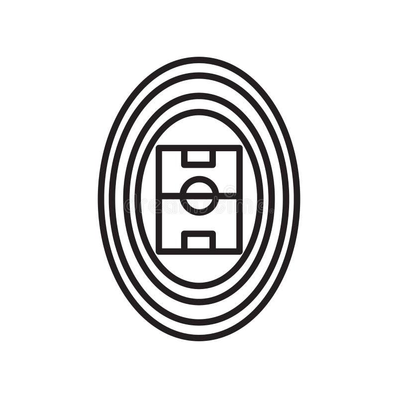 Вектор значка трибуны изолированный на белых предпосылке, знаке трибуны, знаке и символах в тонком линейном стиле плана иллюстрация штока