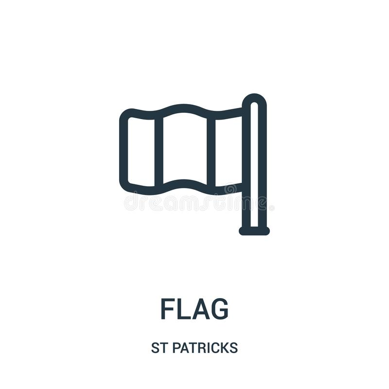 вектор значка флага от собрания patricks st Тонкая линия иллюстрация вектора значка плана флага Линейный символ для пользы на сет бесплатная иллюстрация