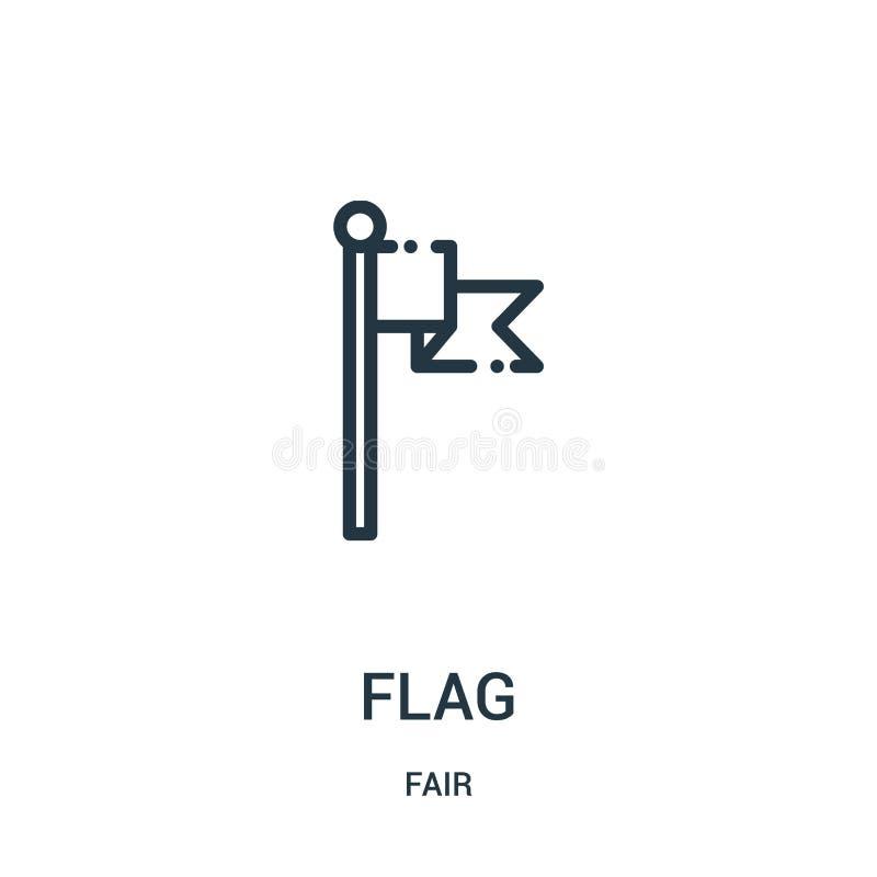 вектор значка флага от справедливого собрания Тонкая линия иллюстрация вектора значка плана флага Линейный символ для пользы на с иллюстрация штока