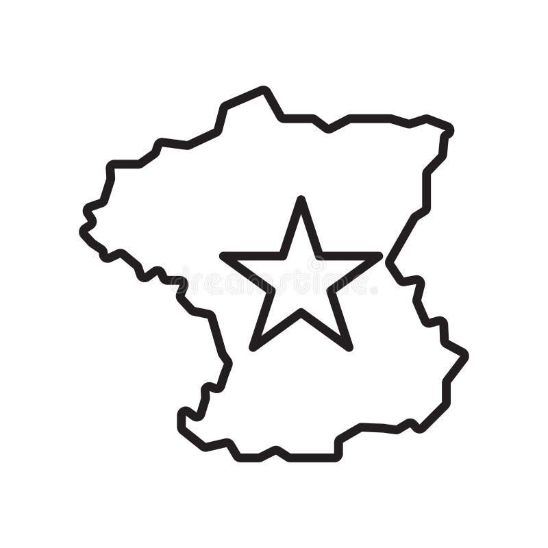 Вектор значка Франции изолированный на белой предпосылке, знаке Франции, тонкой линии элементах дизайна в стиле плана иллюстрация штока