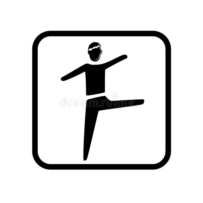 Вектор значка ходока опасного положения изолированный на белой предпосылке, знаке ходока опасного положения, иллюстрациях праздни иллюстрация вектора