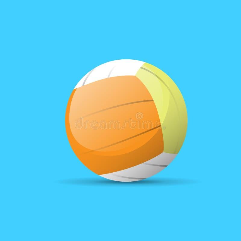 Вектор значка цвета шарика волейбола плоский иллюстрация вектора
