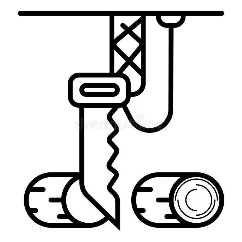Вектор значка цепной пилы иллюстрация вектора