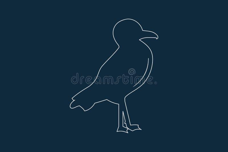 Вектор значка чайки иллюстрация штока
