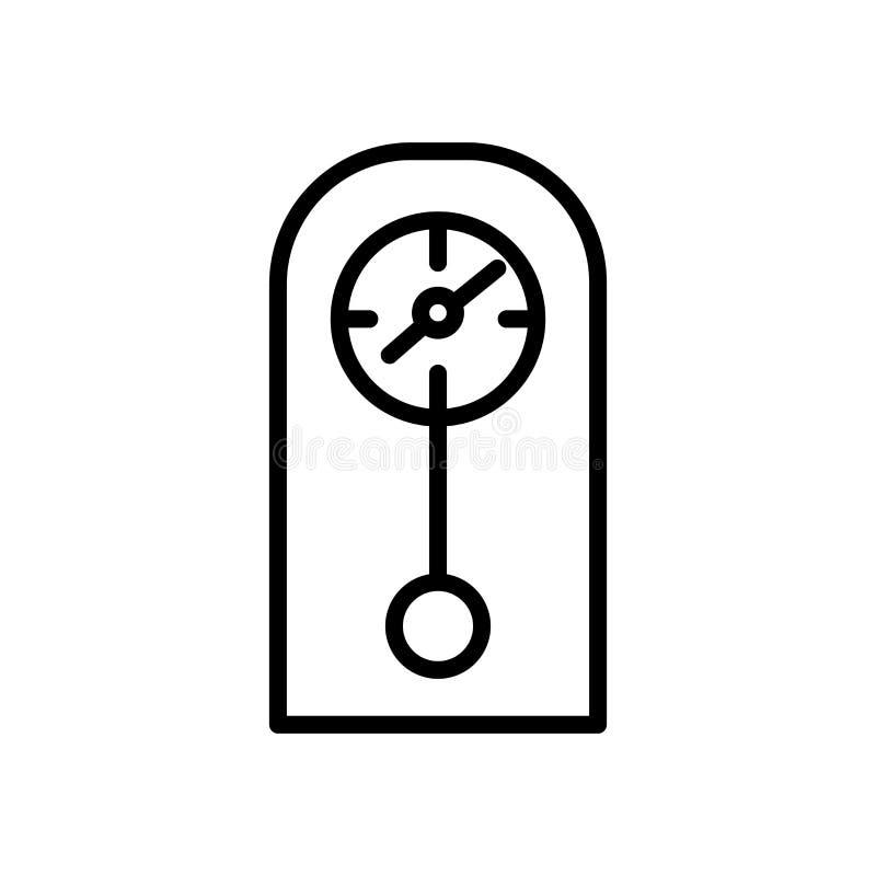 Вектор значка часов изолированный на белой предпосылке, хронометрирует элементы знака, линии и плана в линейном стиле бесплатная иллюстрация