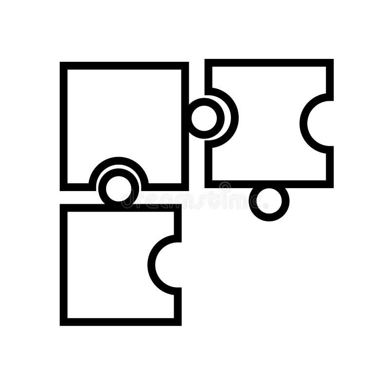 Вектор значка части игры головоломки изолированный на белой предпосылке, знаке части игры головоломки, линейном символе и элемент иллюстрация штока
