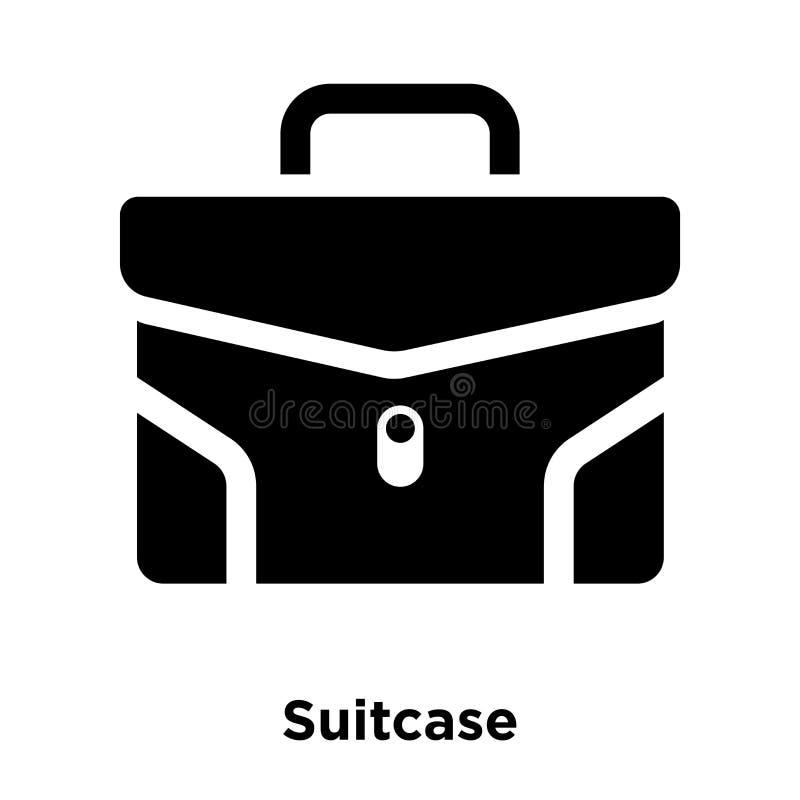 Вектор значка чемодана изолированный на белой предпосылке, концепции логотипа иллюстрация вектора