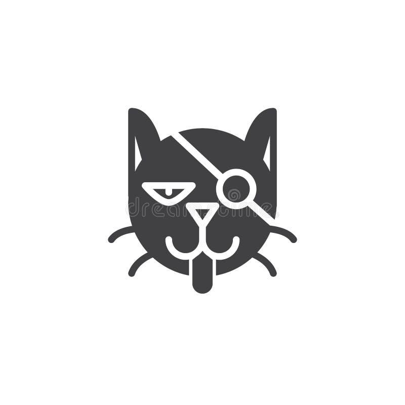 Вектор значка черного кота бесплатная иллюстрация