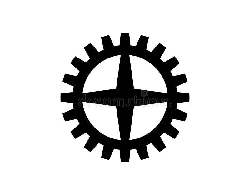 Вектор значка шестерней бесплатная иллюстрация