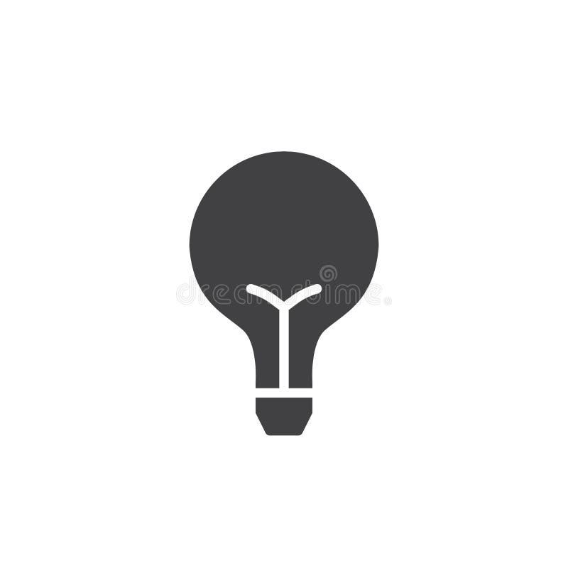 Вектор значка электрической лампочки иллюстрация штока