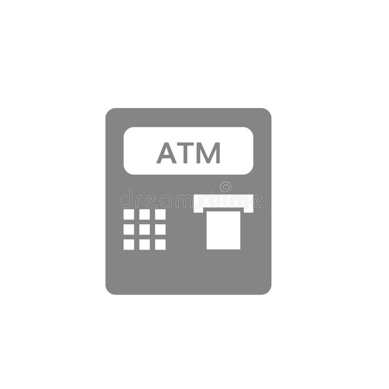 Вектор значка ATM иллюстрация штока