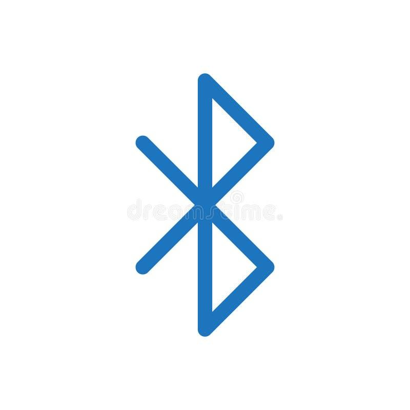 Вектор значка Bluetooth иллюстрация вектора