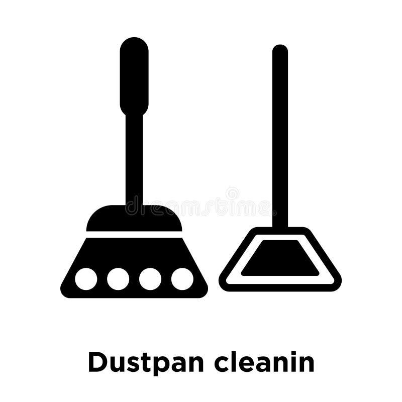 Вектор значка cleanin Dustpan изолированный на белой предпосылке, логотипе c иллюстрация штока