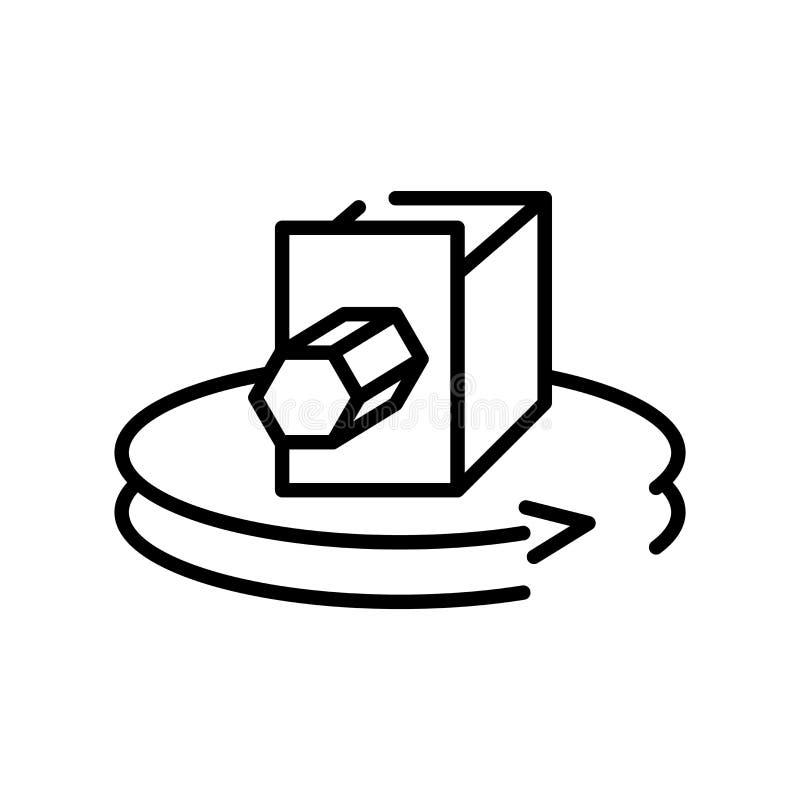 вектор значка 3d изолированный на белой предпосылке, знаке 3d, линии символе или линейном дизайне элемента в стиле плана иллюстрация вектора