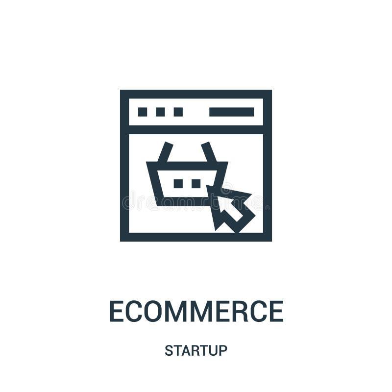 вектор значка ecommerce от собрания запуска Тонкая линия иллюстрация вектора значка плана ecommerce бесплатная иллюстрация
