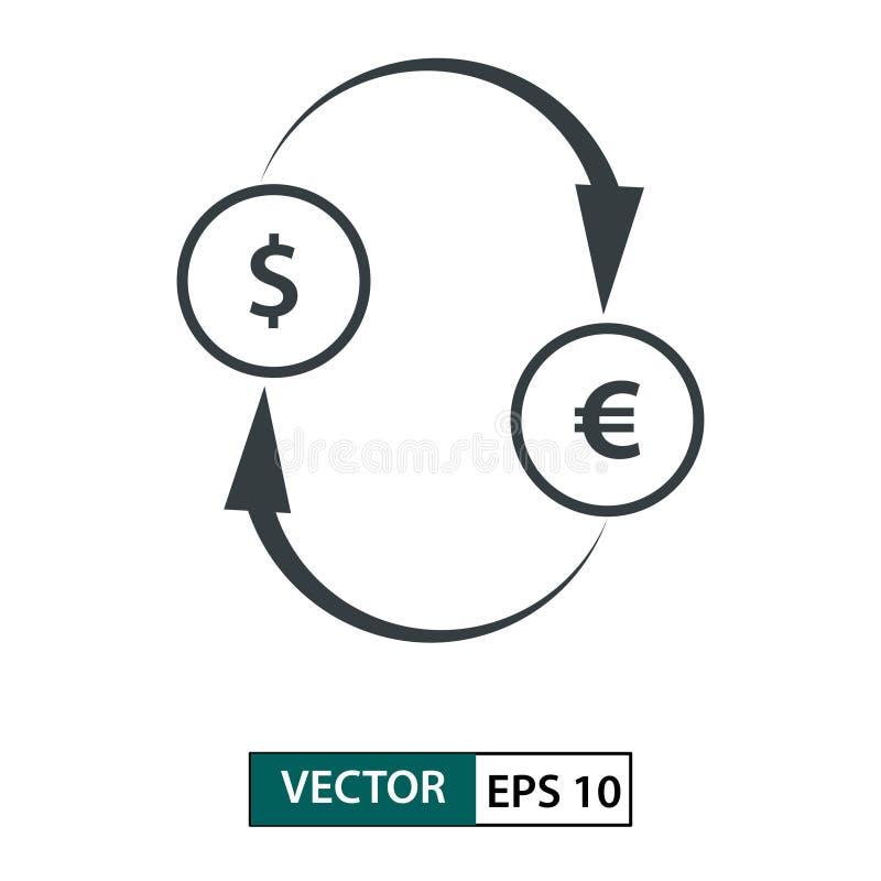 Вектор значка exchage денег r r o бесплатная иллюстрация