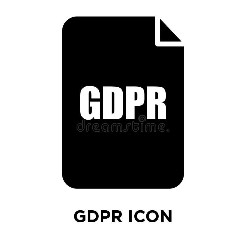 Вектор значка GDPR изолированный на белой предпосылке, концепции логотипа g иллюстрация вектора
