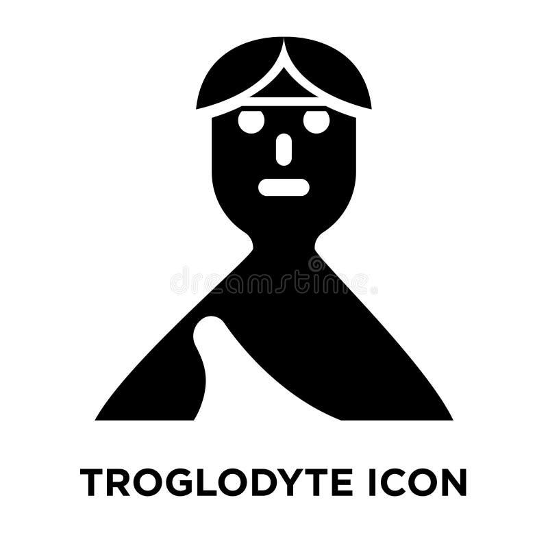 Вектор значка Troglodyte изолированный на белой предпосылке, concep логотипа иллюстрация вектора