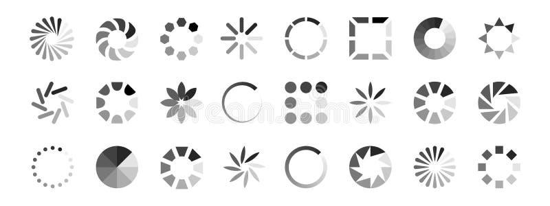 Вектор значков загрузки сети Индикаторы нагрузки изолированные на белой предпосылке бесплатная иллюстрация