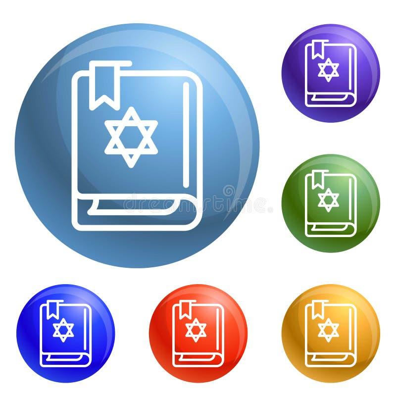 Вектор значков книги Torah установленный иллюстрация вектора