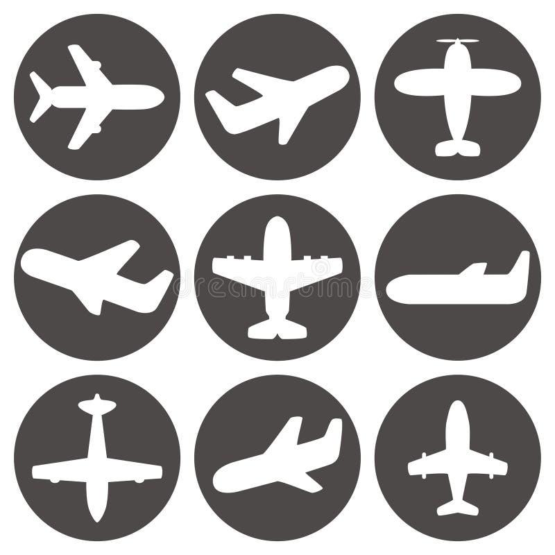 Вектор значков самолета иллюстрация вектора