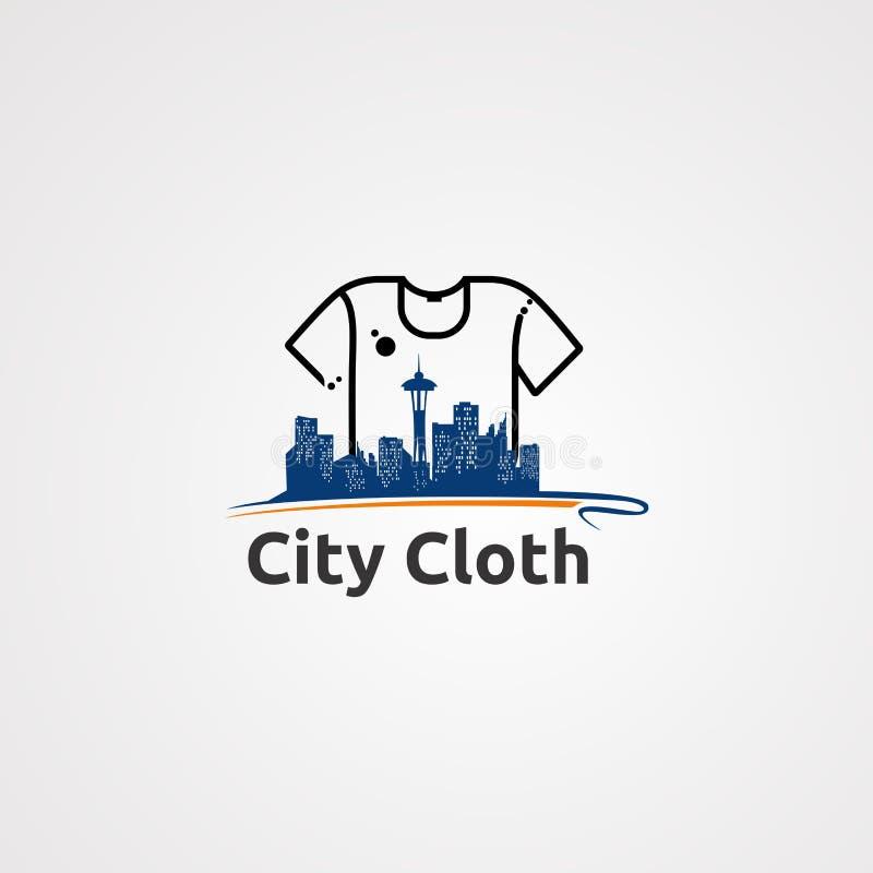 Вектор, значок, элемент, и шаблон логотипа ткани города для компании иллюстрация штока
