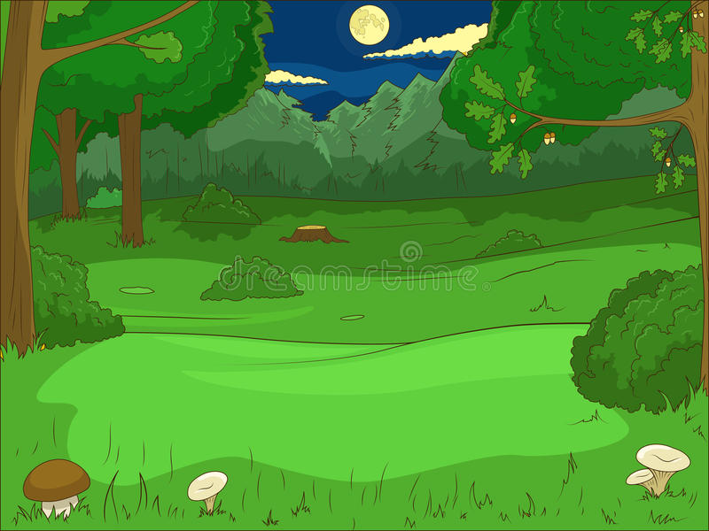 Вектор игры шаржа леса воспитательный иллюстрация штока