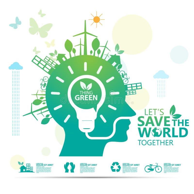 Вектор дизайна концепции окружающей среды infographic стоковая фотография rf