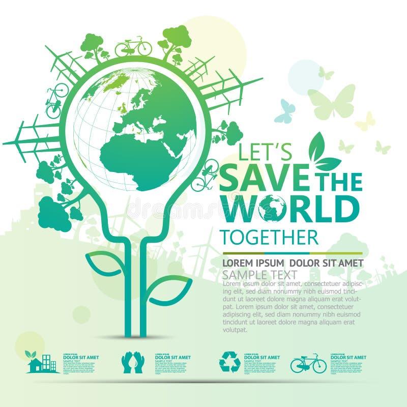 Вектор дизайна концепции окружающей среды infographic стоковая фотография