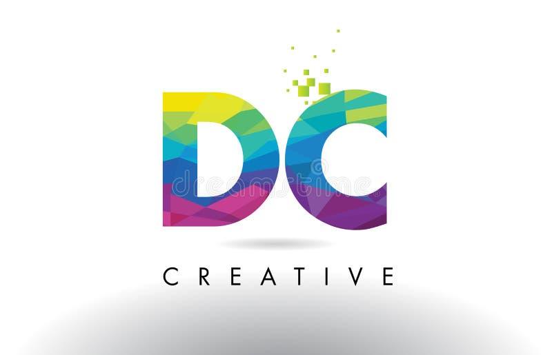 Вектор дизайна треугольников Origami письма DC d c красочный бесплатная иллюстрация