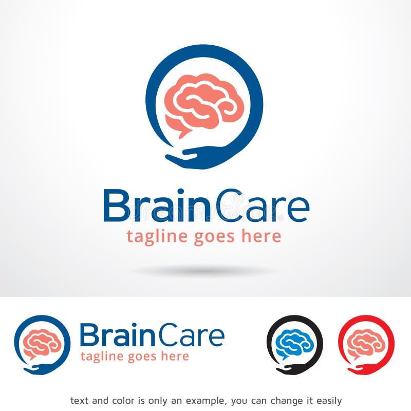 Вектор дизайна шаблона логотипа заботы мозга иллюстрация штока