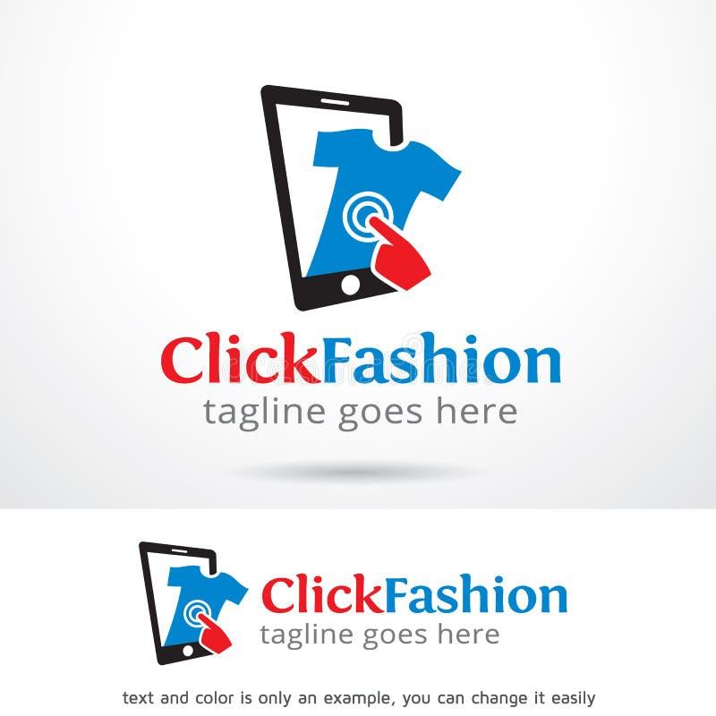 Вектор дизайна шаблона логотипа моды щелчка иллюстрация вектора