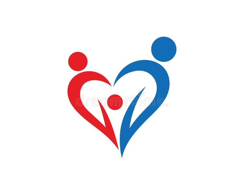 Вектор дизайна шаблона логотипа семьи, эмблема, идея проекта, творческий символ, значок иллюстрация вектора