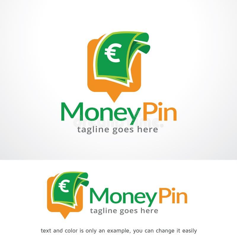 Вектор дизайна шаблона логотипа Pin денег, эмблема, идея проекта, творческий символ, значок иллюстрация штока