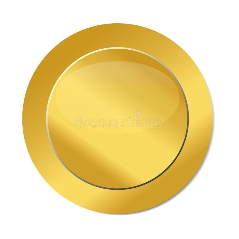 Вектор изображения логотипа значка уплотнения золота иллюстрация вектора