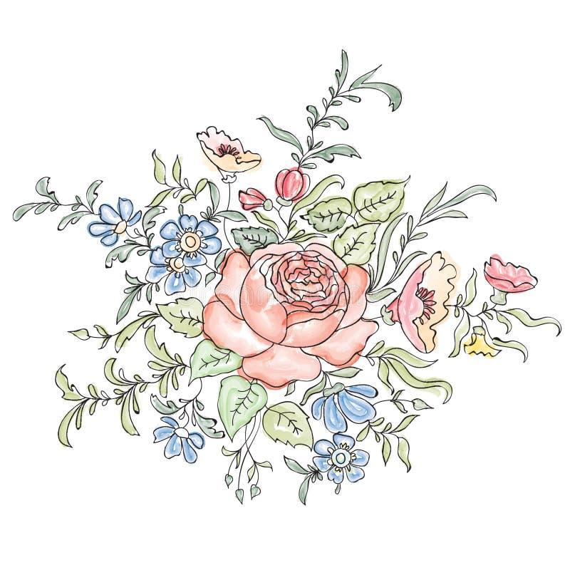 вектор изображения цветка букета яркий флористическая рамка обрамляет серию иллюстрация штока
