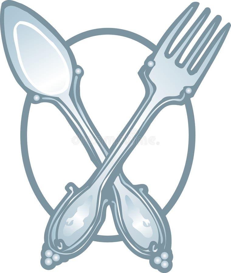 Вектор иконы вилки и ложки бесплатная иллюстрация