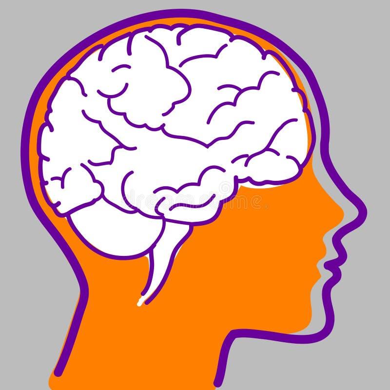 вектор иконы мозга иллюстрация штока