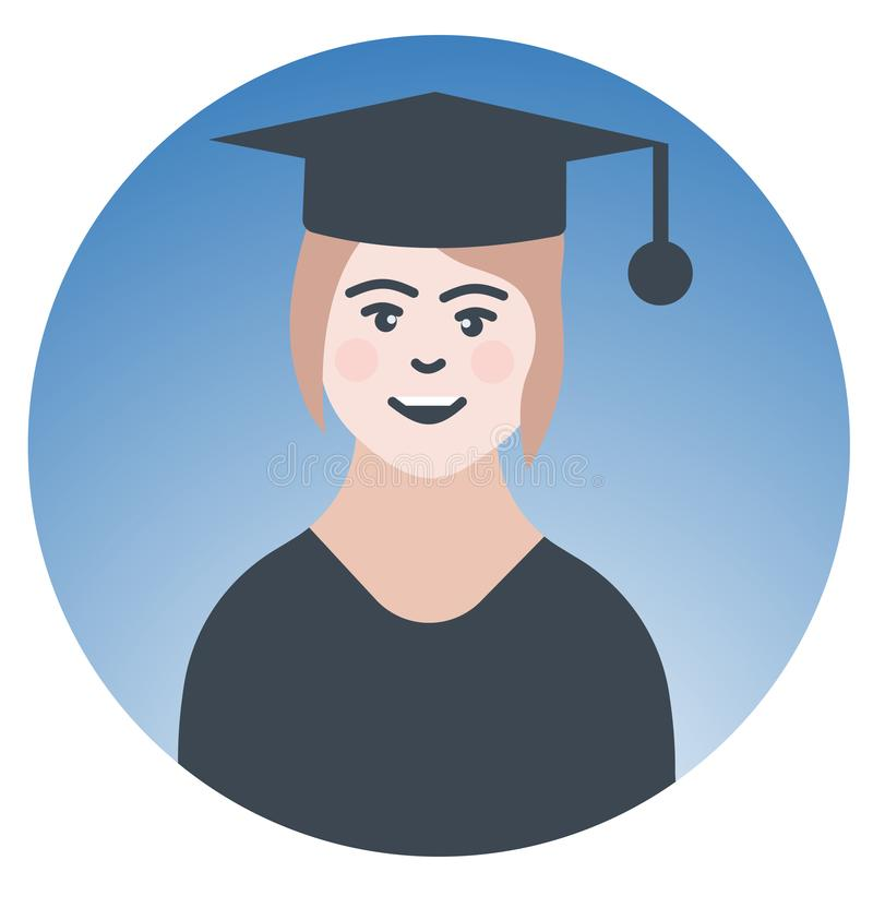 Вектор иконы профессора или учителя уча знак бесплатная иллюстрация