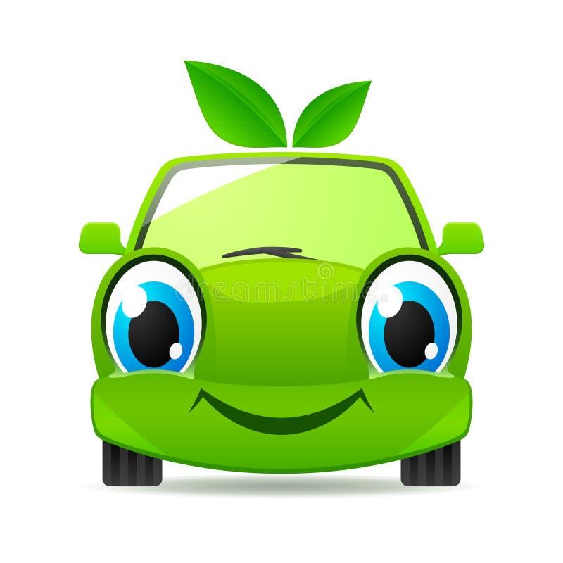 вектор иконы eco автомобиля содружественный иллюстрация вектора
