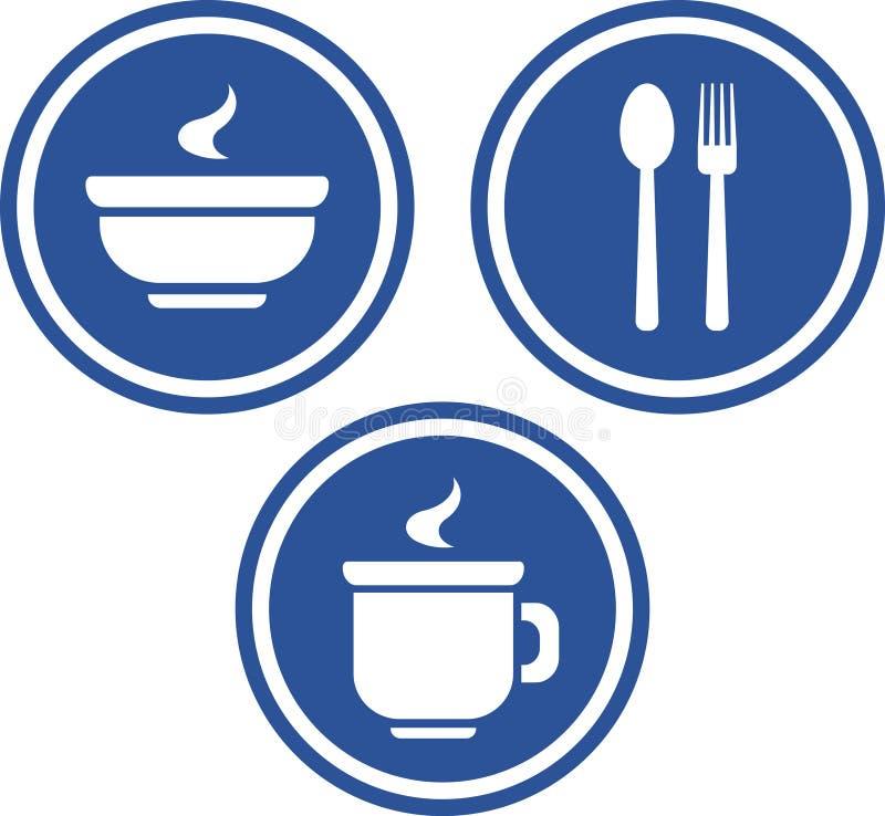вектор икон еды питья иллюстрация штока