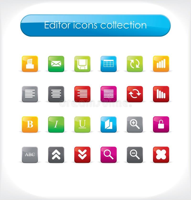 вектор икон редактора собрания иллюстрация вектора