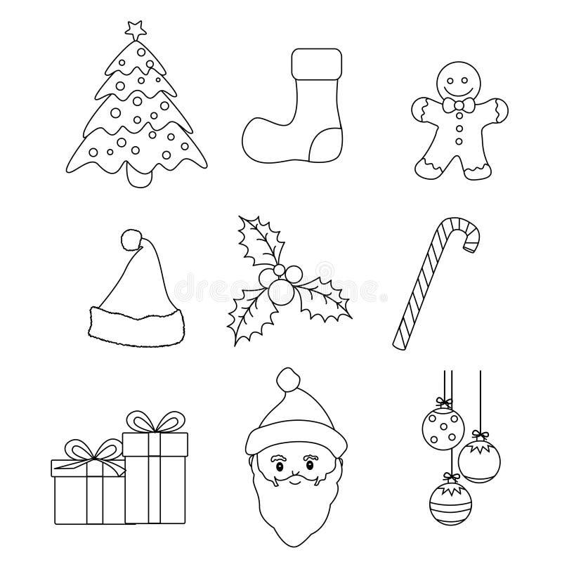 вектор икон рождества бесплатная иллюстрация
