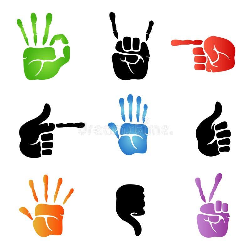 вектор икон руки бесплатная иллюстрация