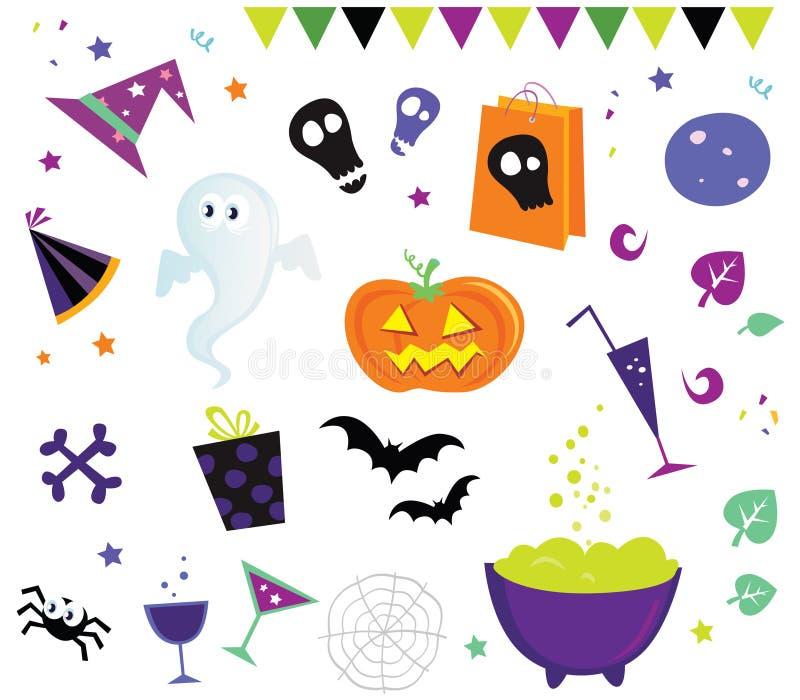 вектор икон ii halloween элементов конструкции бесплатная иллюстрация