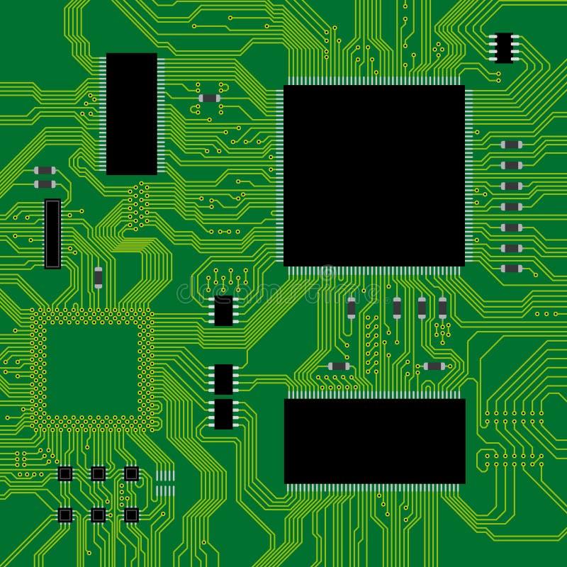 вектор иллюстрации зеленого цвета цепи доски иллюстрация штока